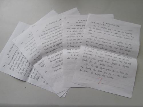 高新区实验中学举行年级英语书写大赛